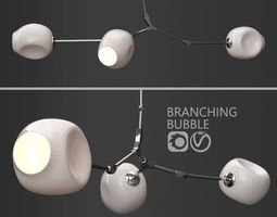 Branching bubble 3 lamps 2 by Lindsey Adelman 3D model 1