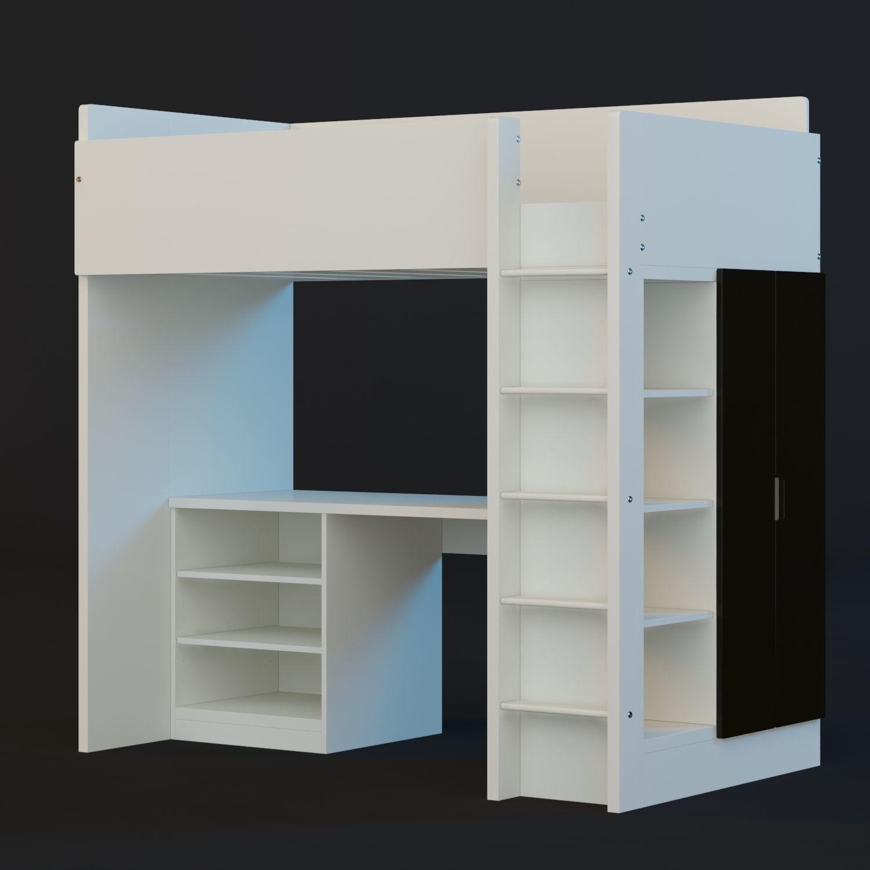 Ikea Stuva Loft Bed 3d Model Max Obj Mtl Fbx 1