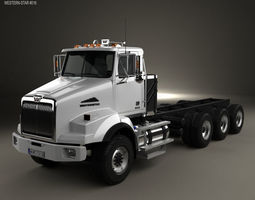 Western Star 4800 SB Day Cab Chassis Truck 2008 3D model
