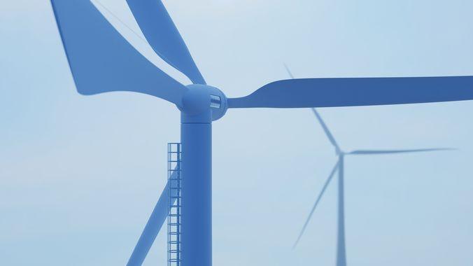 wind turbine 3d model obj mtl stl blend 3dm 1