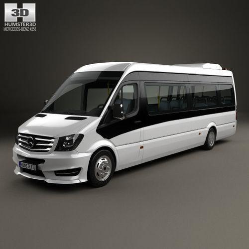 mercedes-benz sprinter cuby city line long bus 2016 3d model max obj mtl 3ds fbx c4d lwo lw lws 1