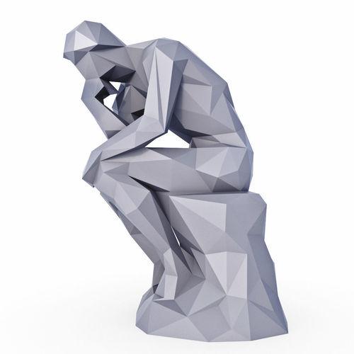thinker sculpture low poly 3d model low-poly max obj mtl 3ds fbx stl 1