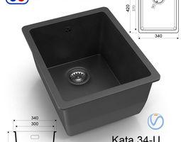 3D asset Kitchen sink Omoikiri Kata 34-U - 8