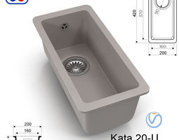 3D asset Kitchen sink Omoikiri Kata 20-U - 8 colors