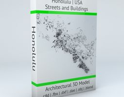Honolulu Streets and Buildings 3D model