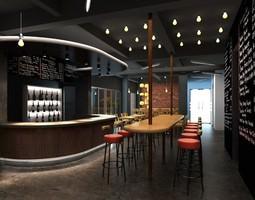 3D Model Bar Interior Scene
