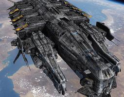 SciFi Destroyer 3D model