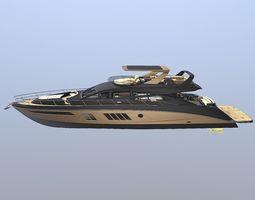 Skywave Luxury Yatch with Interior 3D