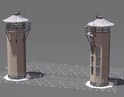 3D guard Spotlight Tower