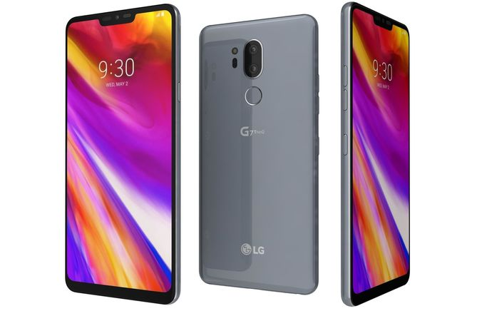 lg g7 thinq platinum gray 3d model max obj mtl 3ds fbx lwo lw lws ma mb 1