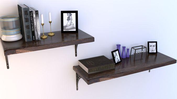 shelves raw cut 3d model max obj mtl 3ds fbx 1