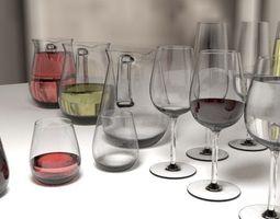 3D model Glassware Set MARIKA