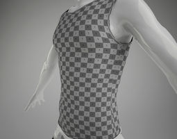 Male Vest 3D Model