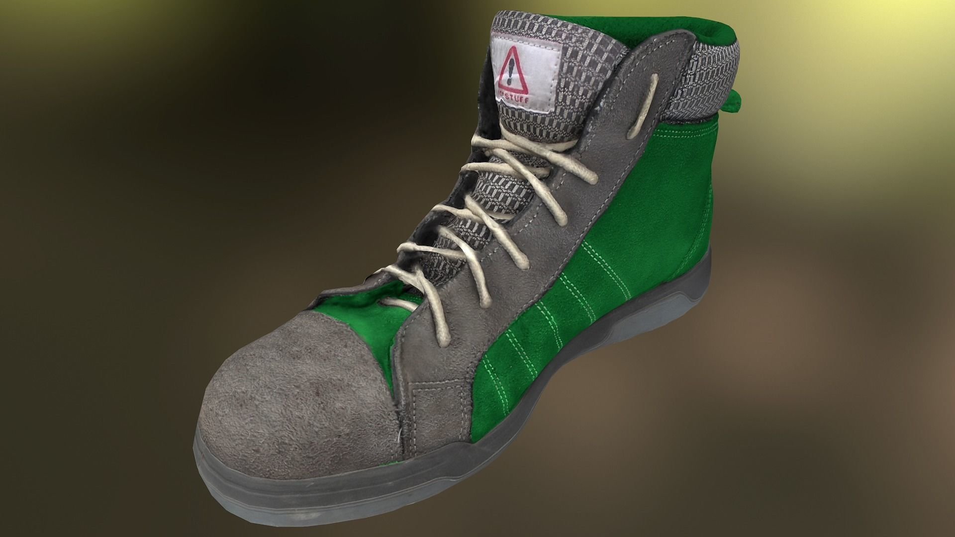 Boot 3D model lowpoly