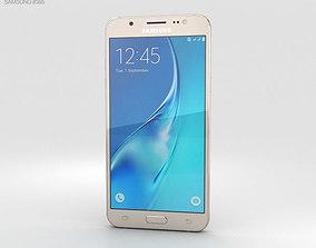 Samsung Galaxy J5 2016 Gold 3D