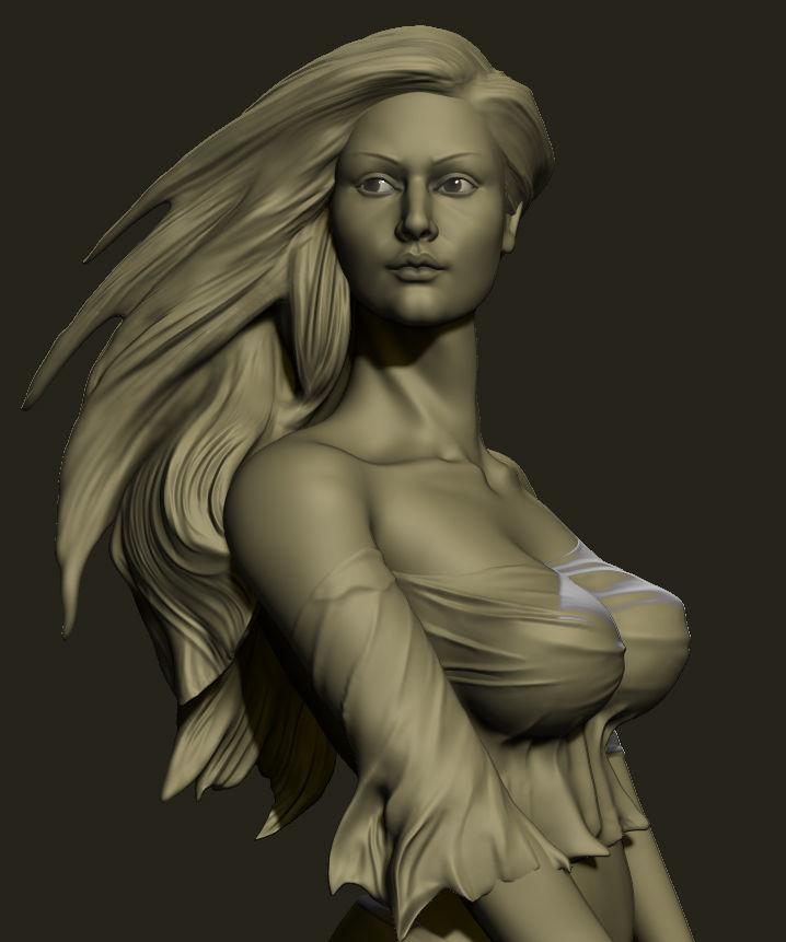 sculpture girl 3D print