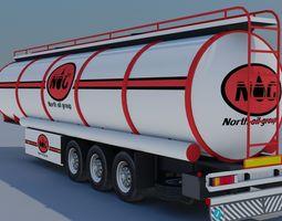 trailer-fuel tank 3d asset low-poly