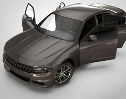 racing Dodge Charger 3D rigged