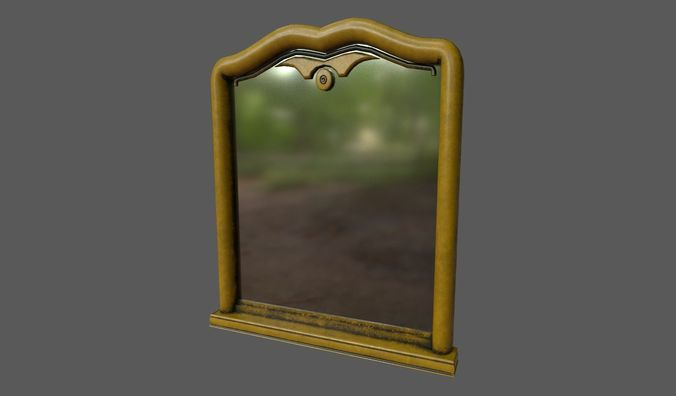 mirror 3d model fbx dae 1