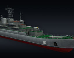 Landing ship LLC Minsk project 775 3D model
