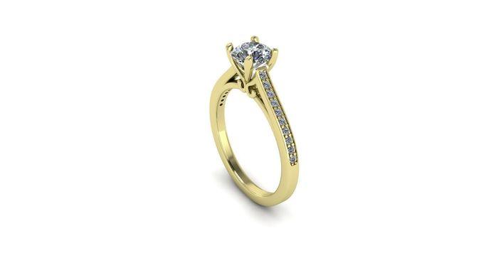 diamond engagement ring unique 3d model stl 3dm 1