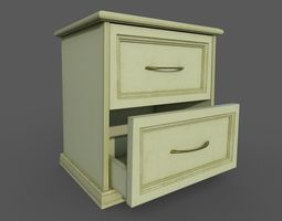 bedroom Bedside table 3D