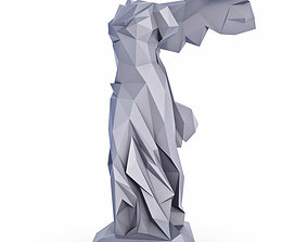 Nika Samothrace Low Poly 3D model