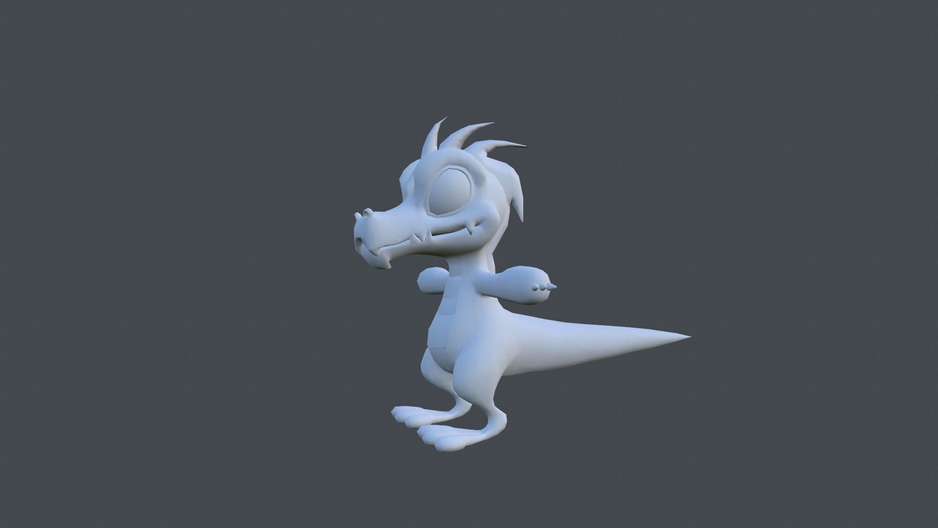 dinosaur cartoon character cgtrader
