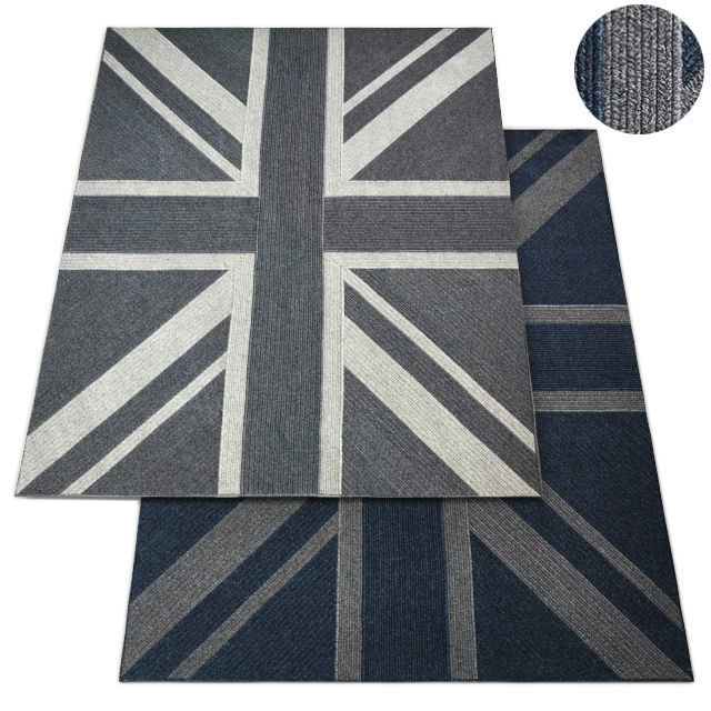 Union Jack Braided Wool Rug Rh Carpet Model