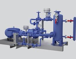 Gas Compressor 3D compressor