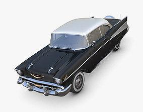 Chevrolet Bel Air 1957 black 3D asset