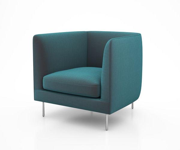 delta club chair by bensen 3d model max obj mtl tga 1