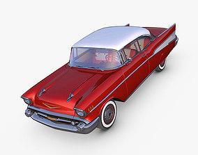 3D model gm Chevrolet Bel Air 1957 red