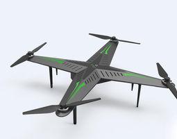 3d sci-fi drone 2