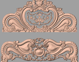 game-ready Rose bed 3D relief STL model used for CNC 2