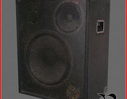 Old speaker 3D model