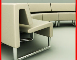 Path Sofa Round 3D model