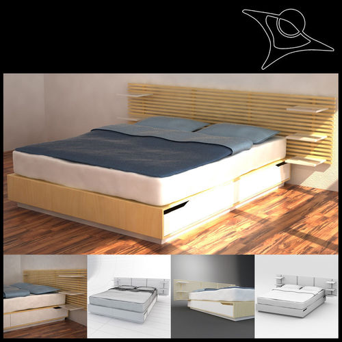 Wonderful Ikea Mandal Bed 3d Model Max 1 ...