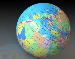 3d simple globe