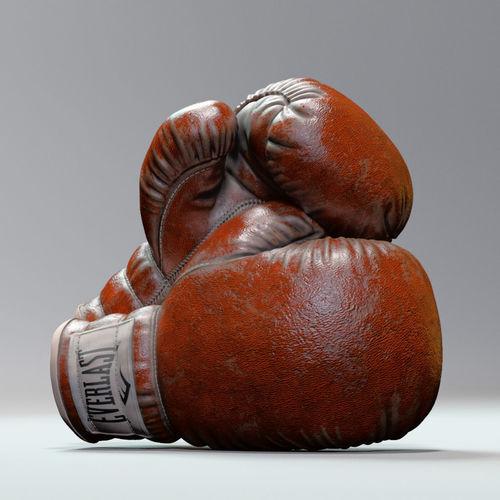 everlast realistic boxing gloves 3d model obj mtl fbx c4d ma mb ztl mel 1