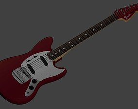 Fender Japan 69 Reissue Mustang in Candy Apple 3D model