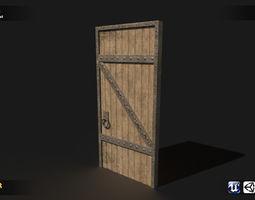 Medieval Door 3D asset game-ready
