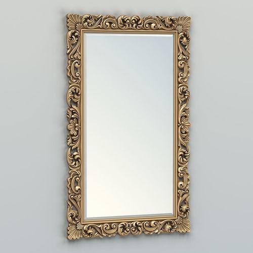 rectangle mirror frame 013 3d model max obj mtl fbx stl 1