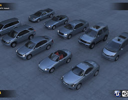3D asset Car Collection 10 in 1
