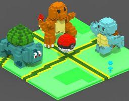 Pokemon Go Voxel Scene 3D model