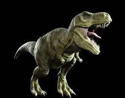 T-rex Tyrannosaurus Rigged and V-ray Shaders 3D