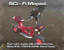 SCi-Fi Moped 3D asset