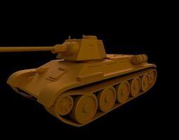 T 34 soviet medium tank 3D printable model