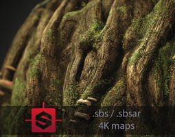 Knotty Tree PBR Tileable Material 3D model