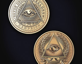 3D printable model Illuminati Coin